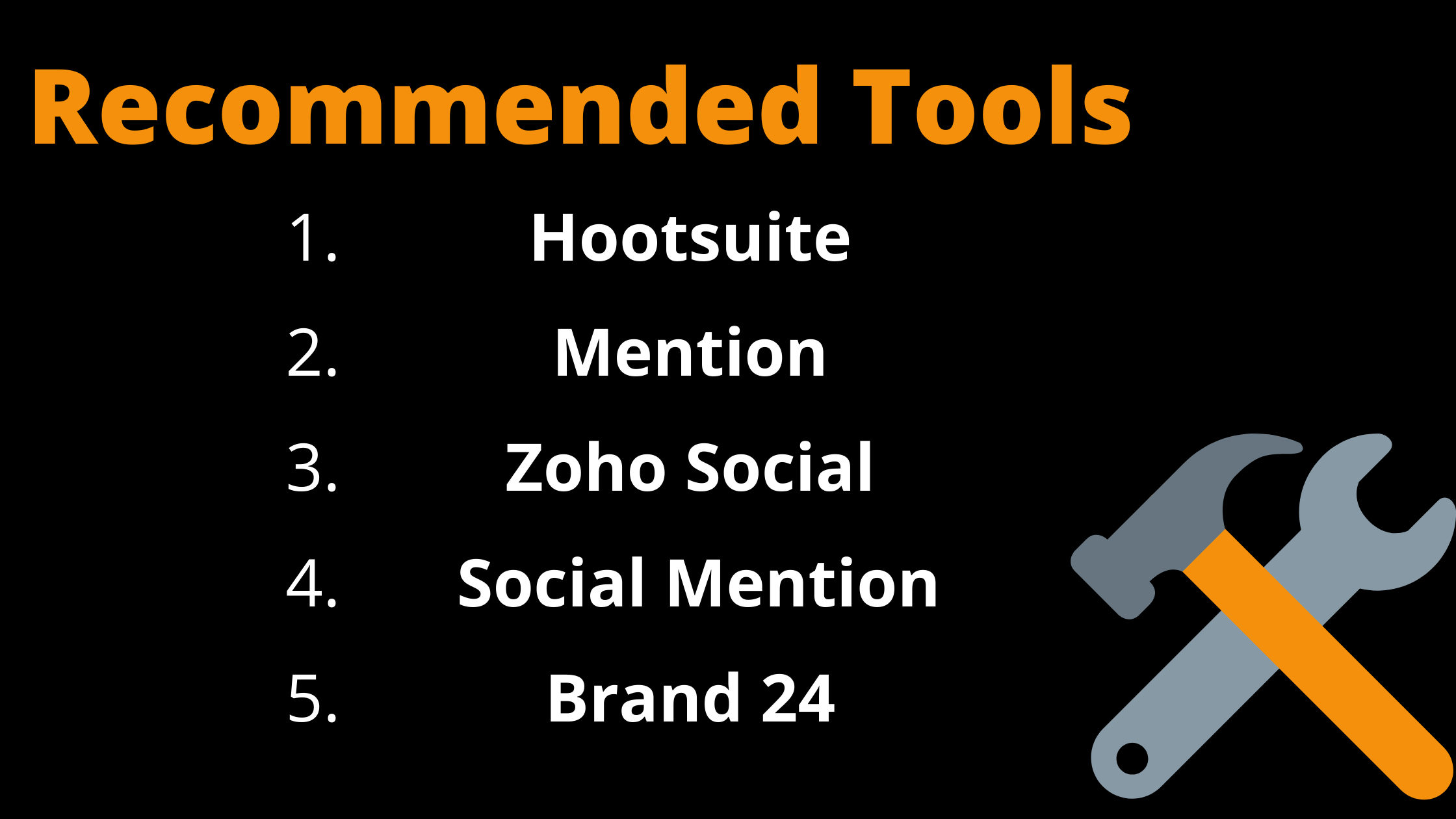 Recommended tools for social media listening