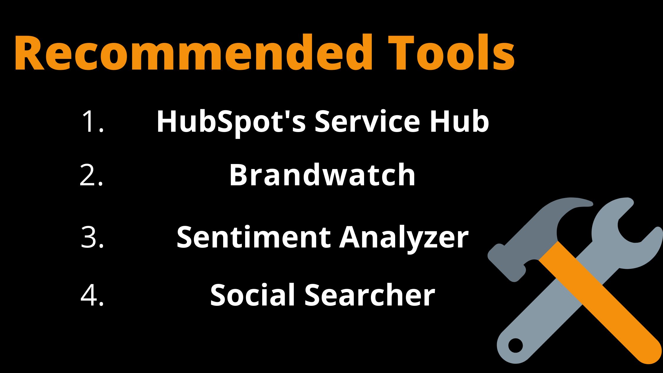 Recommended tools for Sentiment Analysis